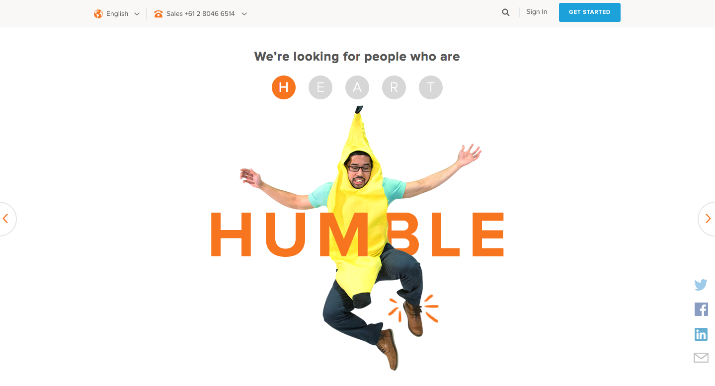 hubspot careers page design culture section