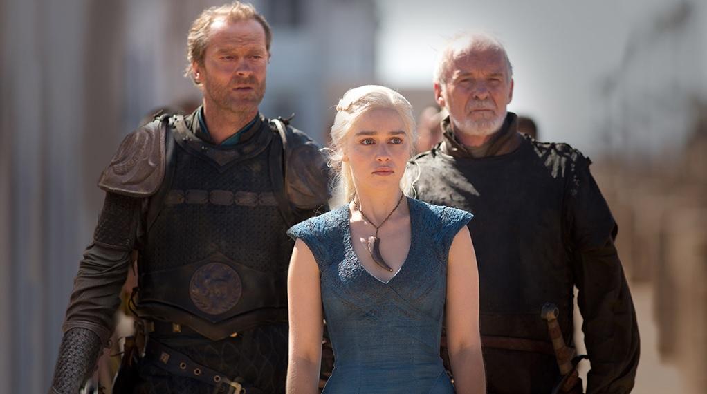 Daenerys with her advisors