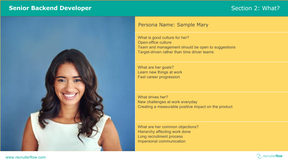 Filled Candidate Persona Template